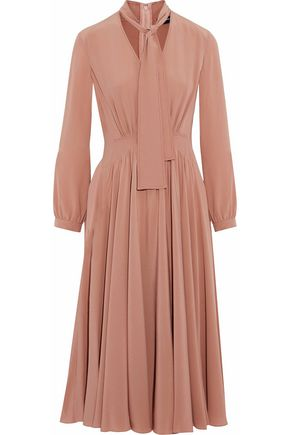 DEREK LAM Gathered silk-crepe midi dress