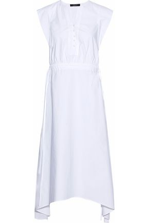 DEREK LAM Asymmetric cotton-blend poplin dress