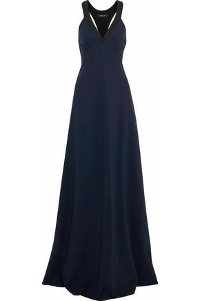 DEREK LAM Ruched two-tone stretch-jersey gown