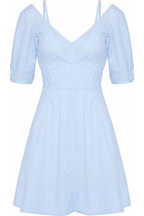 DEREK LAM 10 CROSBY Gathered cotton-poplin mini dress