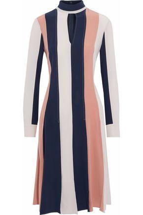 DEREK LAM Striped silk crepe de chine dress