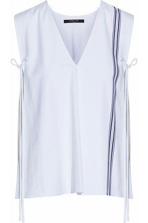 DEREK LAM Striped cotton-poplin top