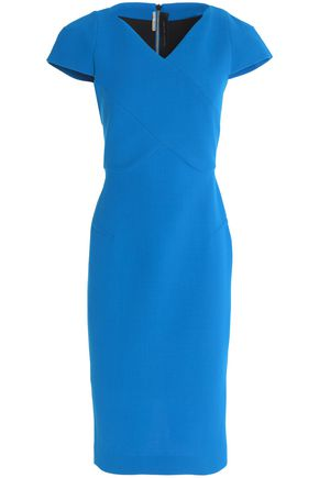 ROLAND MOURET Tournay wool-blend crepe dress