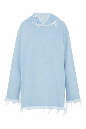 MARQUES ' ALMEIDA Frayed denim hooded top