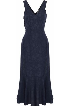 DEREK LAM 10 CROSBY Silk-jacquard midi dress