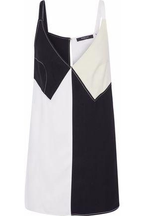 DEREK LAM Color-block twill mini dress