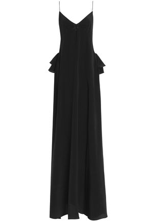 ROCHAS Ruffled crepe de chine maxi dress