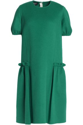 ROCHAS Ruffled wool-blend crepe dress