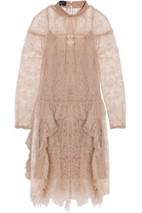 ROCHAS Ruffled lace dress