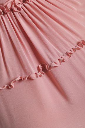 ROCHAS Ruffled silk dress