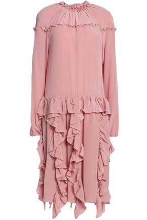 ROCHAS Ruffled silk dress
