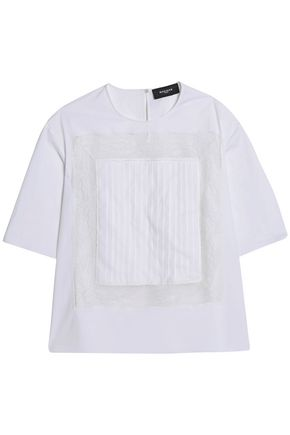 ROCHAS Lace-trimmed jersey top
