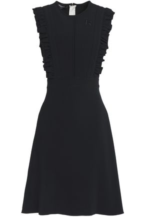 ROCHAS Ruffle-trimmed crepe dress