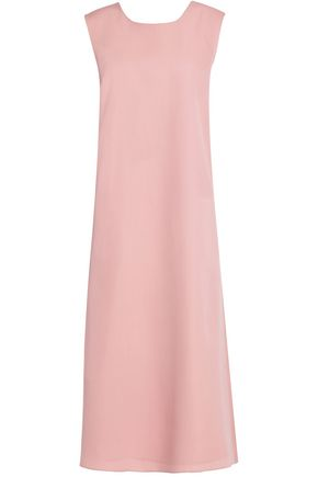 ROCHAS Bow detail wool-crepe midi dress