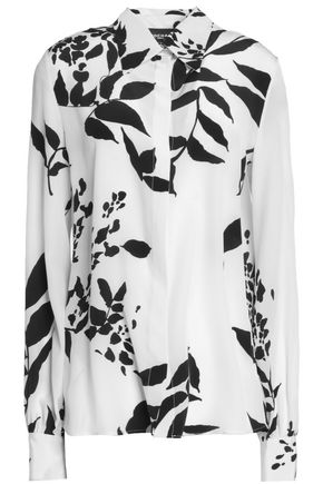 ROCHAS Printed silk crepe top