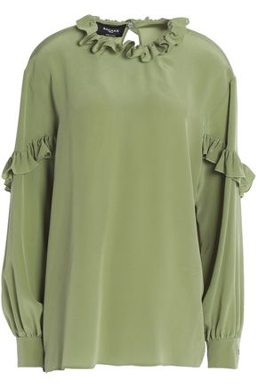 ROCHAS Ruffled silk crepe top