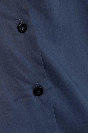 IRIS & INK Gathered cotton-poplin shirt