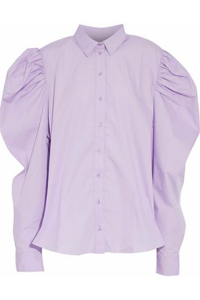 MARQUES ' ALMEIDA Oversized gathered cotton-poplin shirt