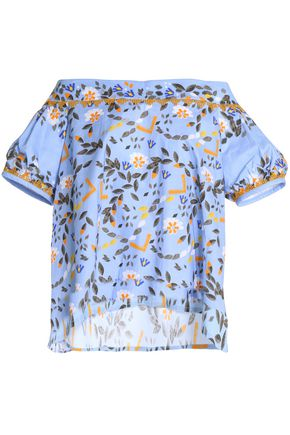 PETER PILOTTO Off-the-shoulder printed cotton top