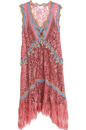PETER PILOTTO Draped corded lace dress