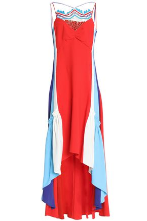 PETER PILOTTO Ruffled cady color-block maxi dress