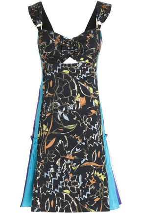 PETER PILOTTO Paneled jacquard mini dress