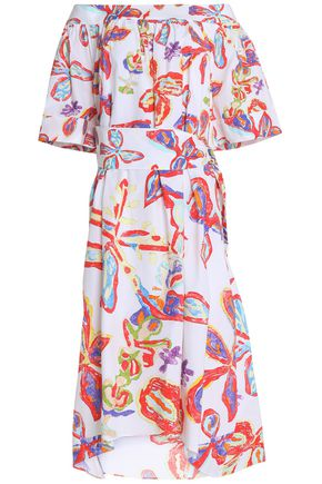 PETER PILOTTO Printed off-the-shoulder cotton midi dress