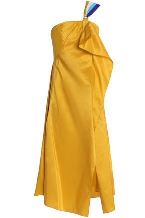 PETER PILOTTO Asymmetrical one-shoulder taffeta midi dress