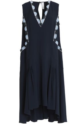 PETER PILOTTO Lace-trimmed crepe mini dress