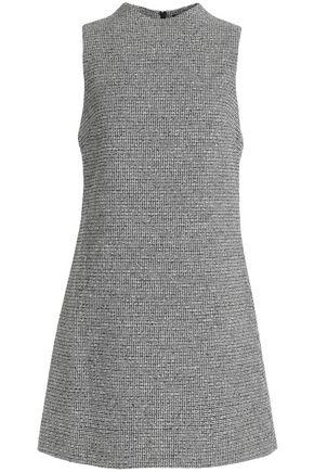 Alice+olivia Woman Monah Checked Felt Mini Dress Black Size 10 Alice & Olivia ycipRF