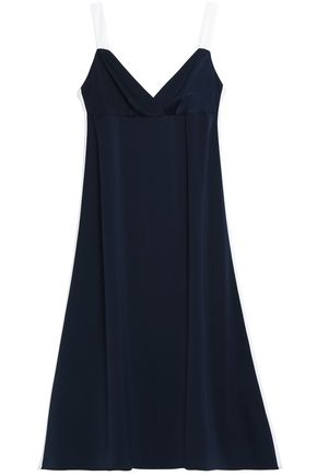 IRIS & INK Max two-tone satin-crepe midi dress