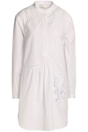 3.1 PHILLIP LIM Embroidered cotton-poplin mini dress