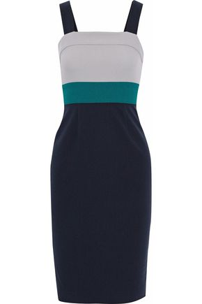 RAOUL Colorblock crepe dress