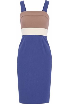 RAOUL Color-block crepe dress