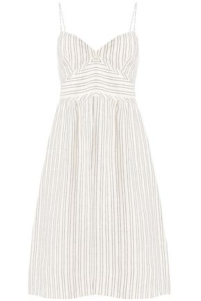 THEORY Striped linen dress
