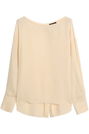 THEORY Jarthstin silk-georgette top