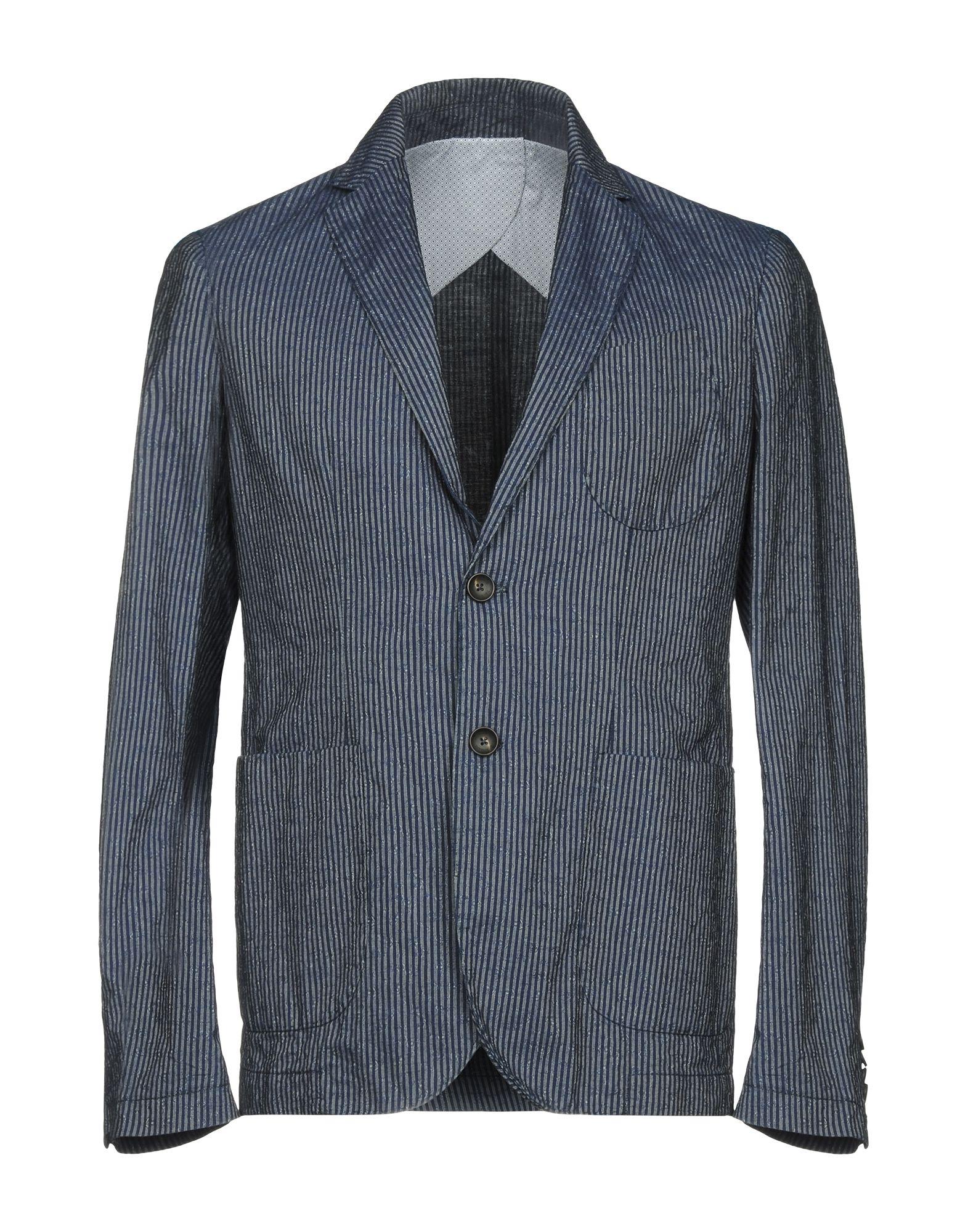 《送料無料》NEW ENGLAND メンズ テーラードジャケット ブルー 48 コットン 100%