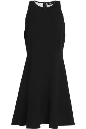 THEORY Flared crepe mini dress