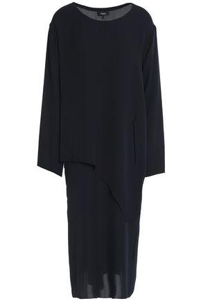 THEORY Silk-chiffon midi dress