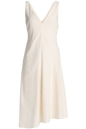THEORY Flared linen midi dress
