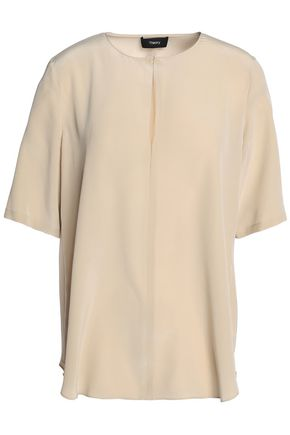 THEORY Silk crepe de chine top