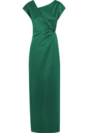 RAOUL Gathered satin gown