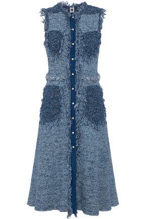 M MISSONI Frayed linen-blend tweed midi dress