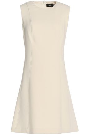 THEORY Flared crepe mini dress