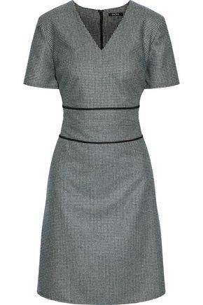 RAOUL Houndstooth woven mini dress