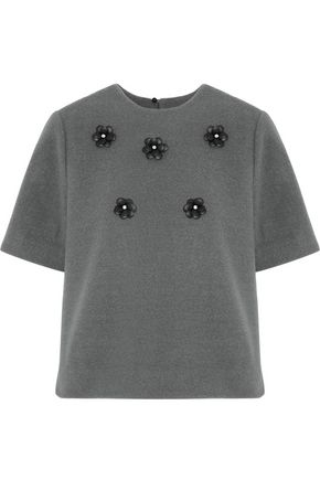 RAOUL Embellished felt top