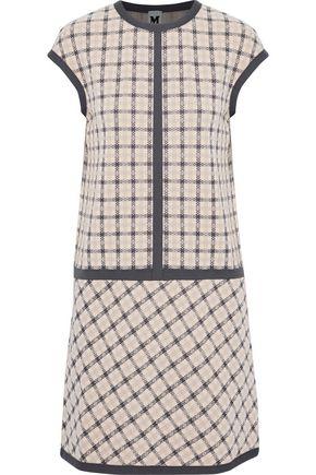 M MISSONI Checked jacquard-knit mini dress
