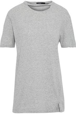 BASSIKE Cutout mélange cotton-jersey T-shirt