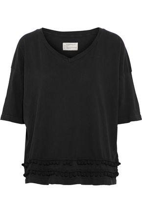 CURRENT/ELLIOTT Pompom-embellished cotton-jersey top