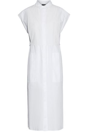 RAG & BONE Gauze-paneled poplin cotton shirt dress